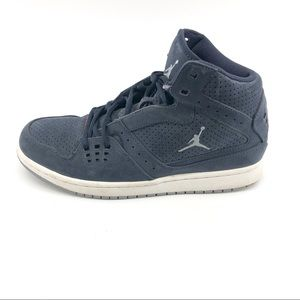 Nike Jordan Sneakers 9 Navy Leather Mens Shoes